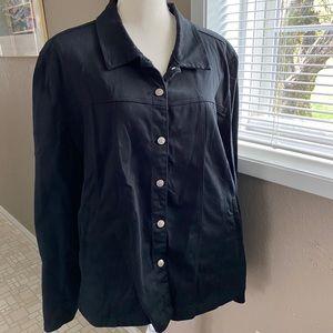 Live A Little black jacket, Sz. 2X